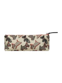 Fleet street ivory zip pencil case