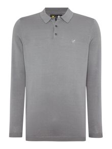 Long Sleeve Mercerised Knitted Polo