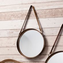 Living by Christiane Lemieux Marston mirror with leather strap