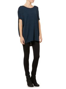 Label Lab Oversized jersey slub cocoon top