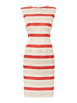 Odette stripe shift dress