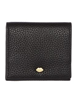 Hettie pebble black small flap over purse