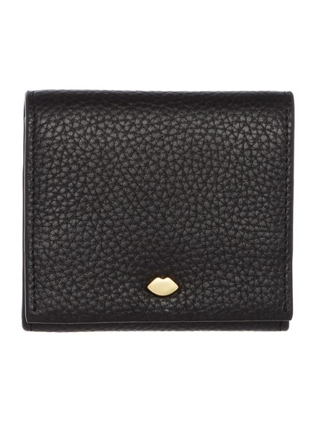 Lulu Guinness Hettie pebble black small flap over purse