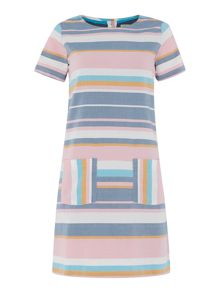 Brakeburn Striped dress with pockets