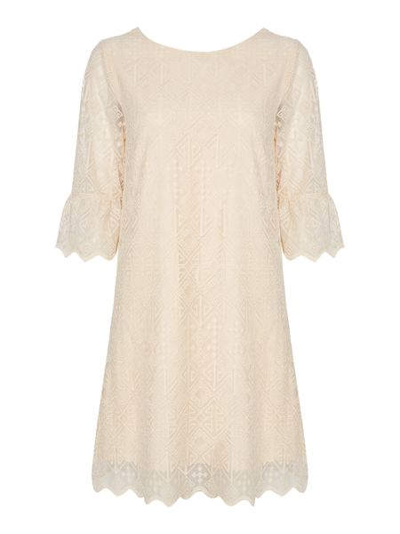 Biba Lace full sleeve shift dress