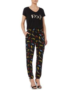 Biba Panther printed slouch trousers