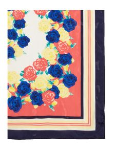 Dickins & Jones FLORAL SILK SQUARE SCARF