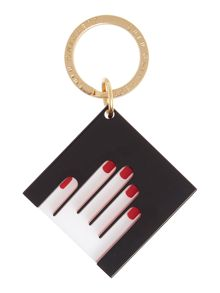 Lulu Guinness Icon hands black keyring