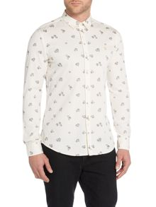 Farah Finsbury Regular Fit Printed Twill Shirt