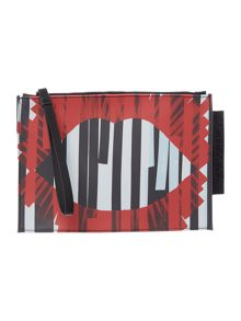 Lulu Guinness Grace multi-coloured medium stripe pouchette