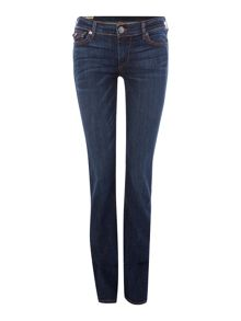 True Religion Cora straight leg Super T jean in Dimmed Hideaway