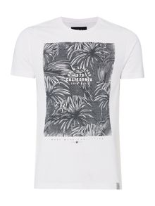 Criminal Palm Springs Monochrome Print Tshirt