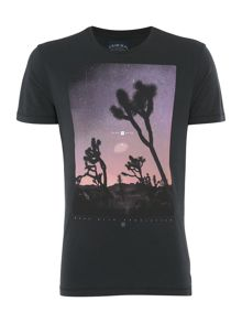 Criminal Joshua Tree Graphic Crew Neck Slim Fit T-Shirt