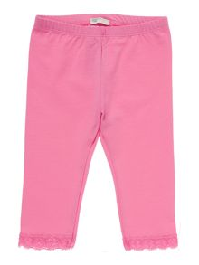 Benetton Girls Lace trim leggings