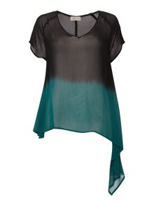 Label Lab Dip dye asymmetric blouse