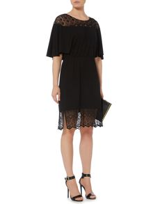 Biba Lace Trim Jersey Dress