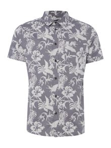 Criminal Morris Short Sleeve Print Shirt