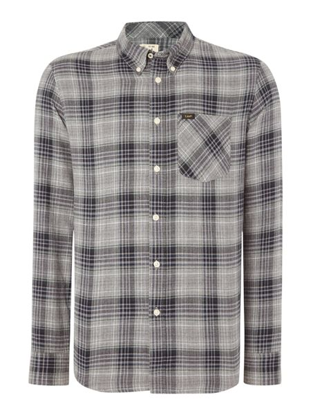 Lee Regular fit button down check shirt