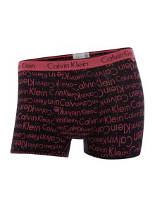 Calvin Klein 2 pack CK one scatter logo & solid cotton trunks