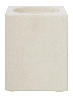 Sandstone candle holder, large