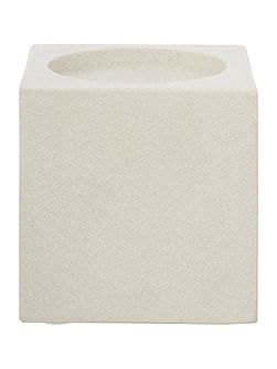 Sandstone candle holder, small