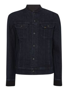 Lee Baseball neck popper front denim jacket