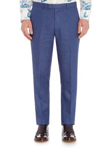 New & Lingwood Burdoch Linen Flat Front Trousers