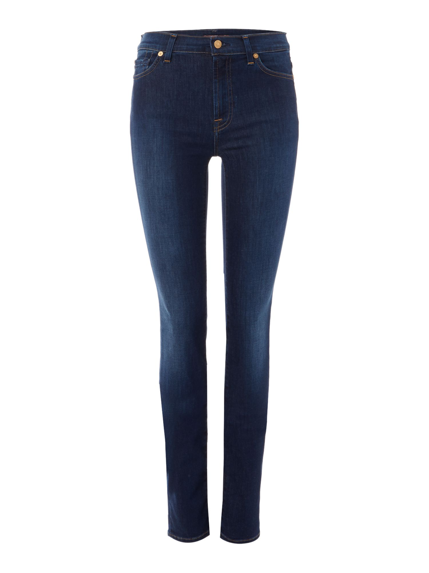 7 For All Mankind 7 For All Mankind Rozie high rise skinny jeans in long boston blue, Denim Mid Wash