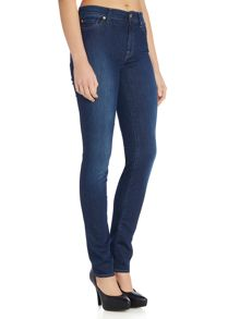 Rozie high rise skinny jeans in long boston blue