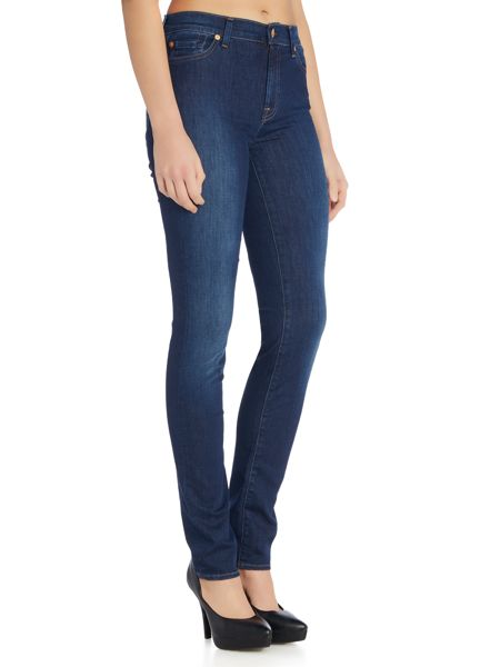 7 For All Mankind Rozie high rise skinny jeans in long boston blue