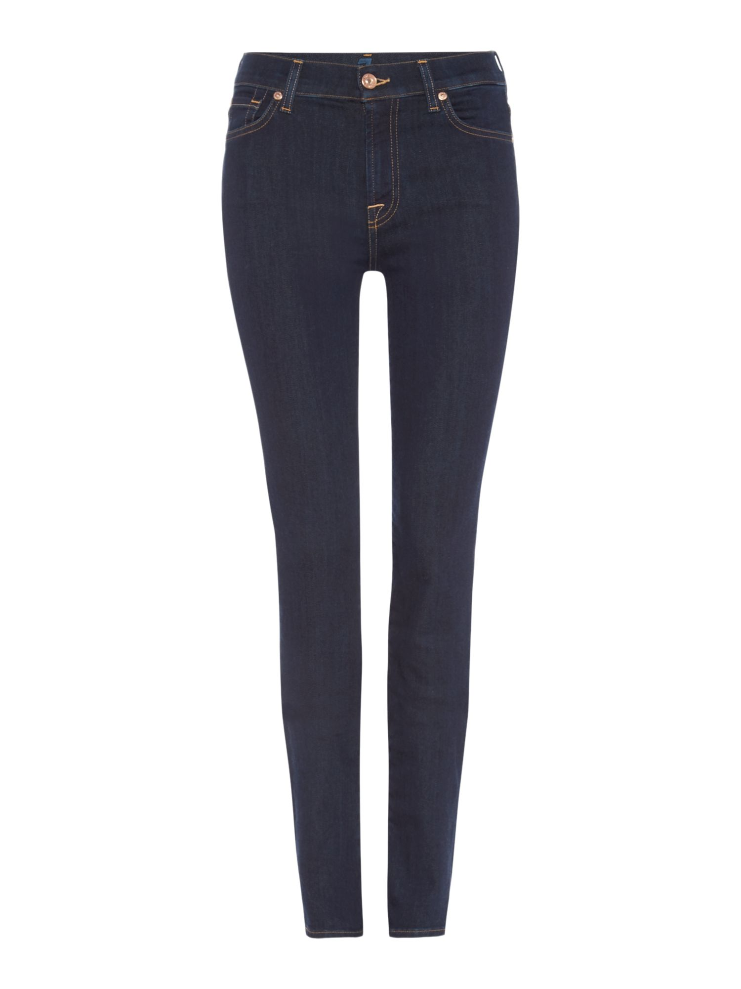7 For All Mankind 7 For All Mankind Rozie high rise skinny jeans in long beach dark, Denim Dark Wash