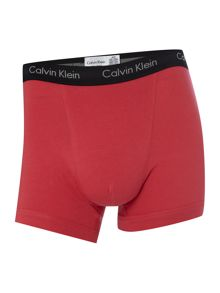 CK one 3 pack of contrast waistband trunks