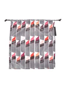 Lulu Guinness Multi-coloured lipstick print drawstring pouch