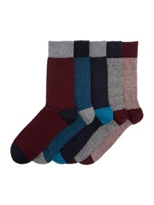 Linea 5 Pack Striped Socks