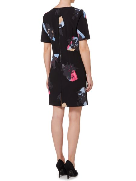 Ellen Tracy Floral half sleeve sheath dress