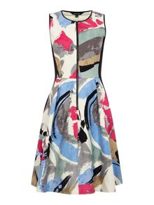 Ellen Tracy Fit and flare hopsack dress