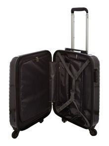 Delsey Axial elite charcoal 4 wheel hard cabin suitcase