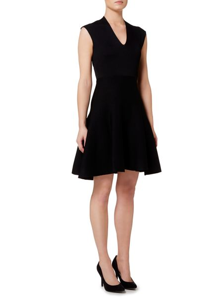 Ellen Tracy V-neck fit and flare dress
