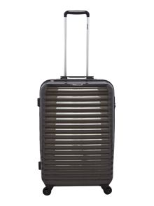 Delsey Axial elite charcoal 4 wheel hard medium suitcase