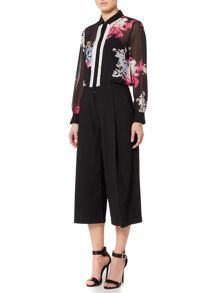Ellen Tracy Layered placket front blouse