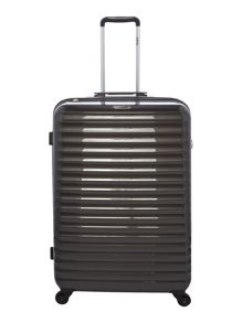 Delsey Axial elite charcoal 4 wheel hard large suitcase