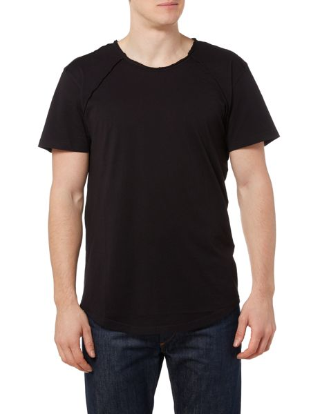 Only & Sons Long Line Exposed Seam Short Sleeve T-shirt