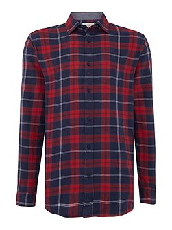 Windowpane Check brushed Long Sleeve Shirt
