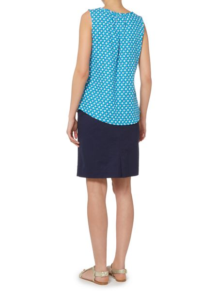 LILY & ME Pintuck printed vest