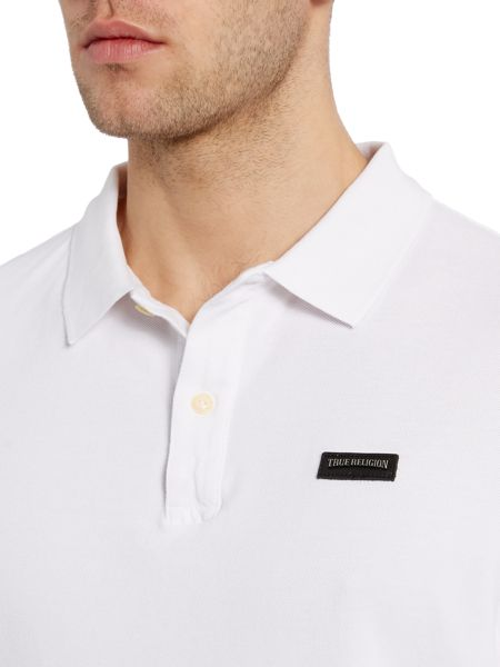 True Religion Long Sleeve Leather Patch Logo Polo