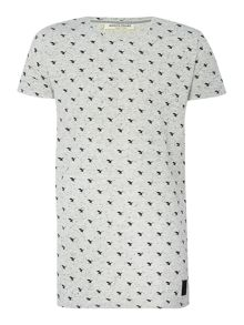 Anerkjendt Regular fit all over hawk print t shirt
