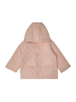 Benetton Girls Quilted hooded jacket