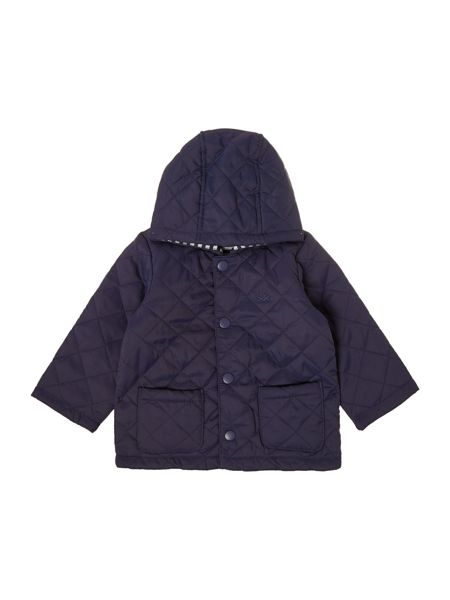 Benetton Boys Quilted hooded jacket