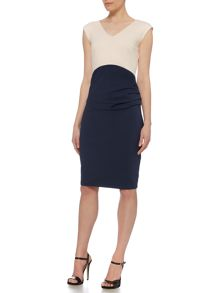 Pied a Terre Colour Block Ponte Dress
