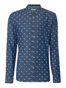 Anerkjendt Regular fit all over hawk print shirt